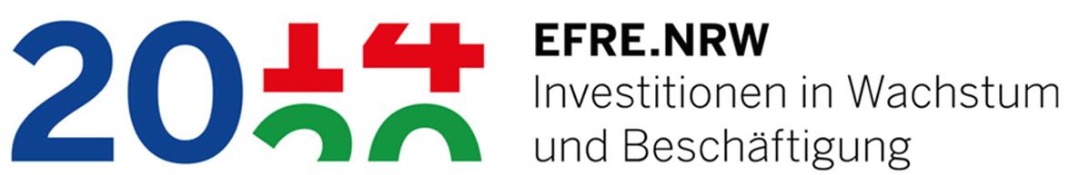 Logogrrafik: Efre.NRW Investition in Wachstum und Beschäftigung