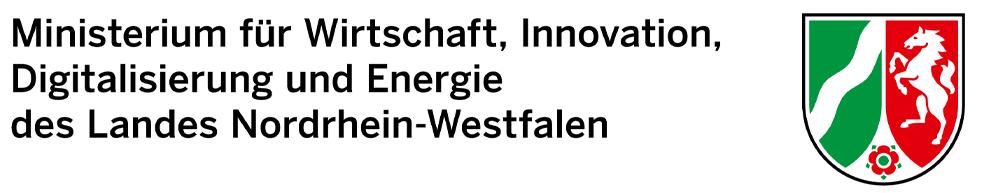 Logografik: Ministerium für Wirtschaft, Innovations, Digitalisierung und Energie des Landes Nordrhein-Westfalen